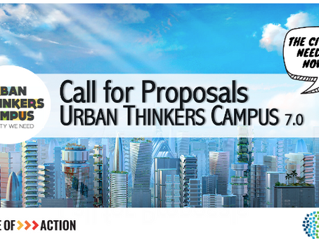New call for proposals for Urban Thinkers Campus (7.0) – DEADLINE 20 OCTOBER 2021