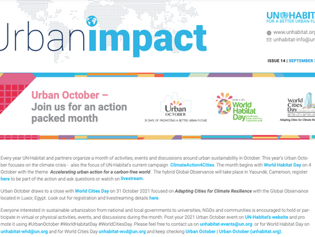 Urban Impact: Features the upcoming Urban October, update on the organization's financial situation,