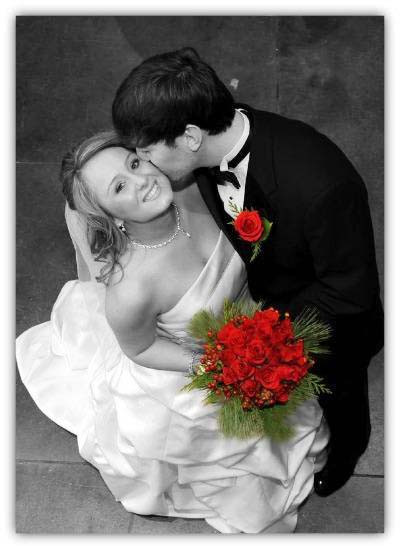 Bride and groom BW flower color CROPPED.