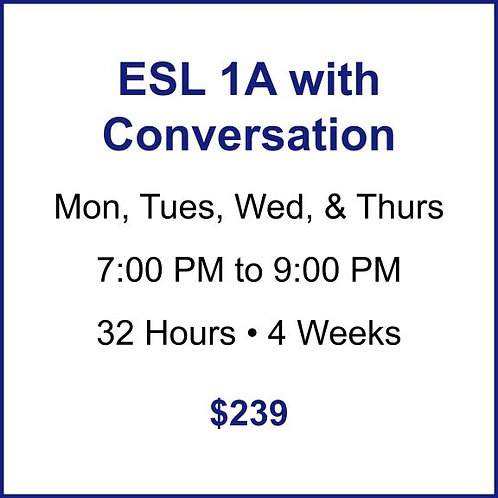 ESL 1A with Conversation