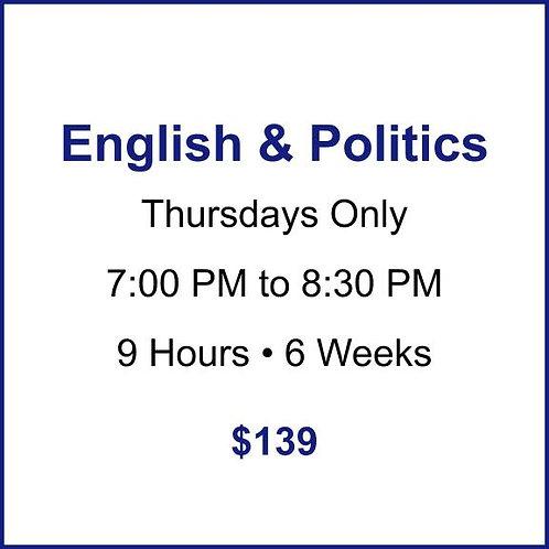 English & Politics