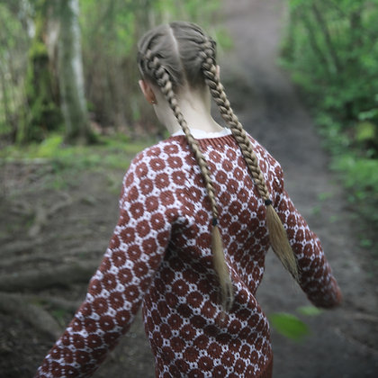 Knitted Wool Sweater for kids. Hipster style. (KNITTING PATTERN)