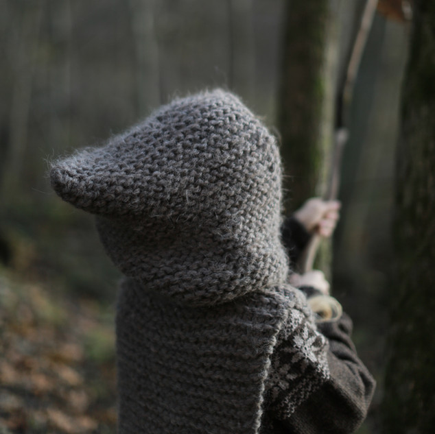 Knitted Hooded Vest for kids. Hipster style. (KNITTING PATTERN) Little explorer. Let the kids back to nature. Kids slow fashion. Handmade with love, by you.
