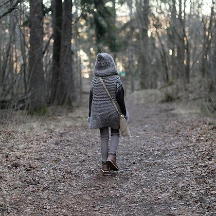 Liten vandrer. Bærekraftig barnemote. Heklet flaskeholder. Oppskrift. Mønster