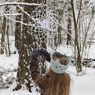 Winter princess | Hipster Dream Catcher | Crochet crown | Patterns