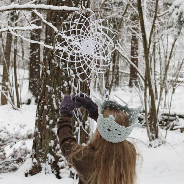 Large Crochet Dream Catcher for kids. Hipster style. (CROCHET PATTERN)