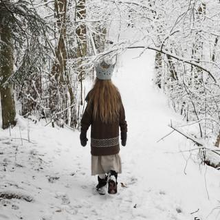 Little Princess of the Winter Woods. Little wanderer | Into the woods | winter wonderland