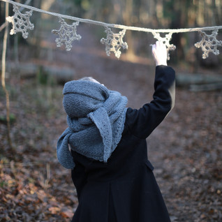 Crochet Snowflake Bunting for kids. Hipster style. (CROCHET PATTERN). Sustainable crocheted gift for kids. Handmade with love by you. Explore more.