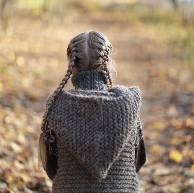 Knitted Hooded Vest for kids. Hipster style. (KNITTING PATTERN) Nature kids. Kids hipster style. Handmade with love, by you.