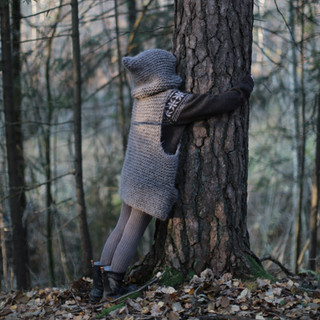 Knitted Hooded Vest for kids. Hipster style. (KNITTING PATTERN). Hug a tree. Outdoor kids. Kids fashion. Hipster style. Handmade with love by you.