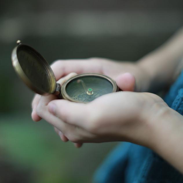 Compass. Inspire children to find each their adventurous childhood world.