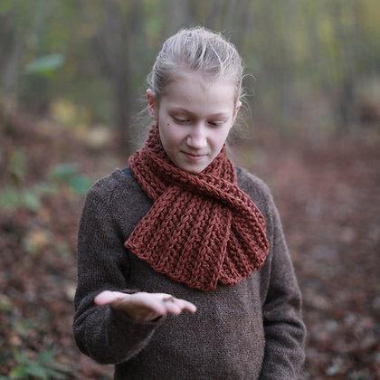 Crochet Keyhole Scarf for kids. Hipster style. (CROCHET PATTERN)