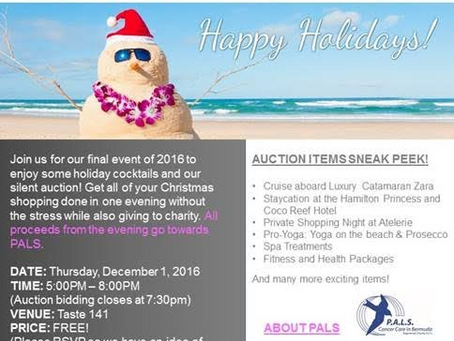 Holiday Cocktails and Silent Auction Scheduled for December 1