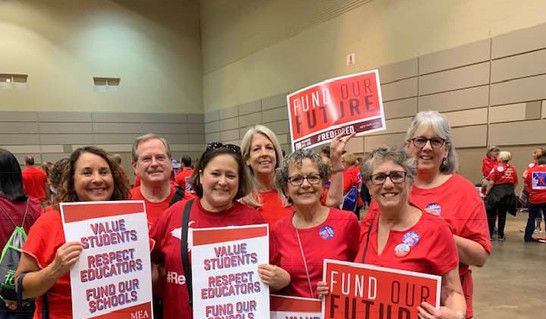 Indivisible Huron Valley at RedForEd in