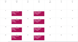 Schedule for Basic Classes