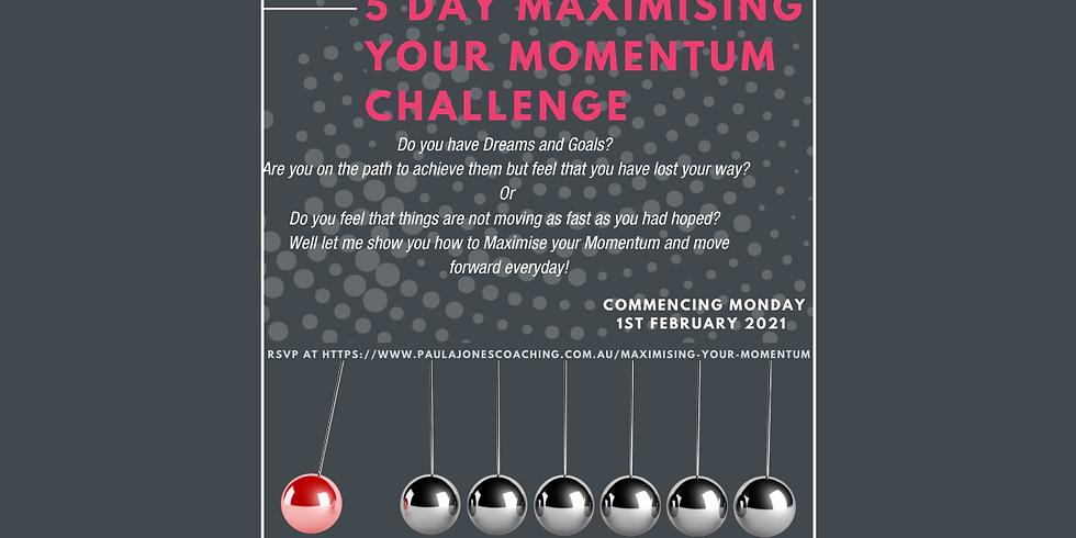 5 day Maximising your Momentum Challenge