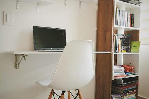 Combo escritorio abatible + silla + repisas