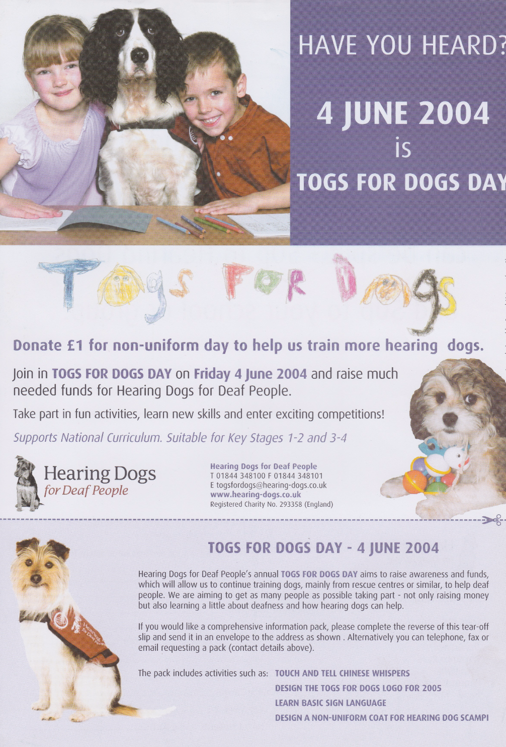 Hearing dogs for deaf