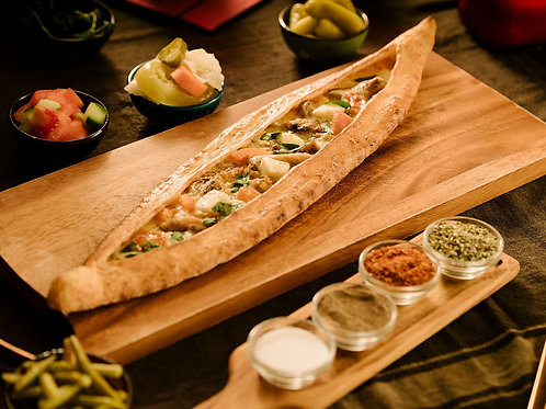 Bake at home chicken & hellim pide