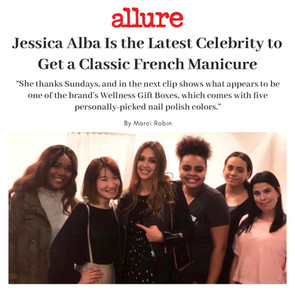 Jessica Alba is the Latest Celerity to Get a Classic French Manicure at Sundays