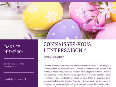 "Bulletin d'information Avril 2021 ""Les recettes"""