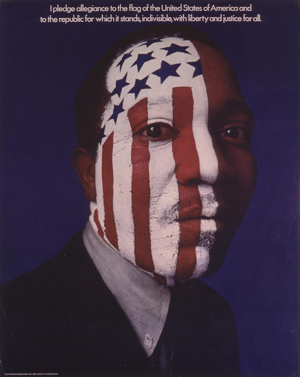 """I Pledge Allegiance""; Lou Dorfsman, Ron Borowski, Starfish Productions; Offset, 1970"