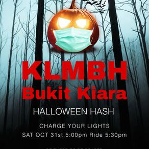 (CANCELLED) HASH #302 @ BUKIT KIARA, SATURDAY 31ST OCTOBER 2020 (PM)