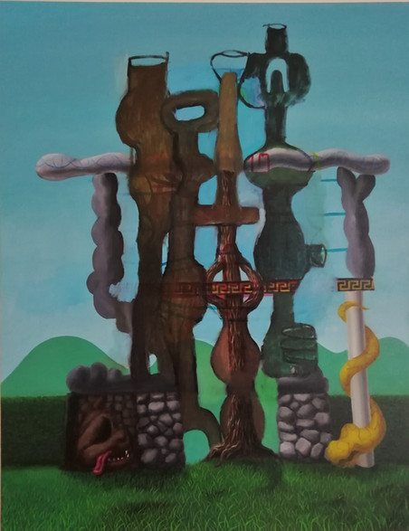Building/Erasing:Level 4 (Mario, Morandi and Guston; Alchemical Apparatus