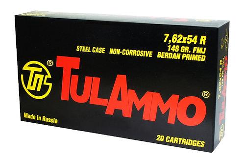 TULAMMO  7.62X54R 148GR FMJ STEEL
