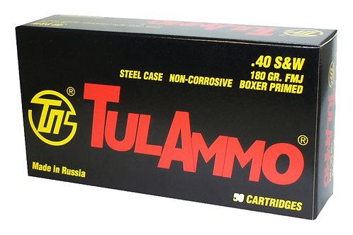 TULAMMO 40SW 180GR FMJ STEEL 50RD