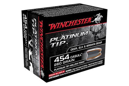 WINCHESTER PLATINUM TIP .454 CASULL  260GR HP