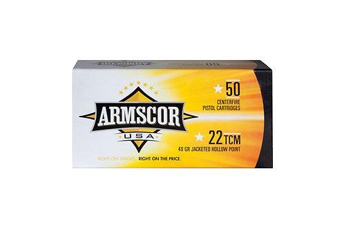 ARMSCOR CARTRIDGE 22TCM 40GR JHP
