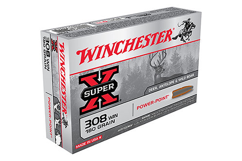 WINCHESTER SUPER X .308 180 GR. POWER POINT