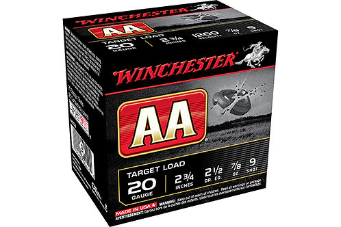 WINCHESTER AA TARGET 20G 2.5DR .875-9