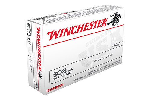 WINCHESTER USA RIFLE .308 147 GR. FMJ