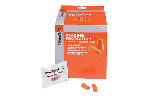 CHAMPION EAR PLUGS FOAM 100 PAIR