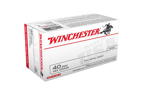 WINCHESTER CARTRIDGE 40SW 165GR FMJ 100PK