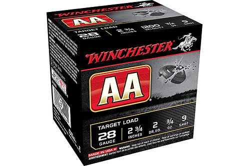 WINCHESTER AA TARGET 28G 2DR .75-9