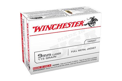 WINCHESTER CARTRIDGE 9MM 115GR FMJ 100PK