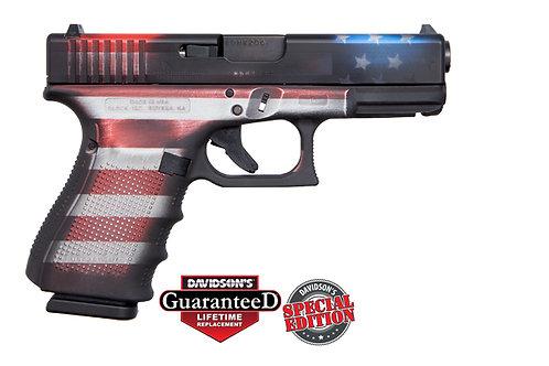 Apollo Custom|Glock Model:Gen 4 19 Battleworn Flag