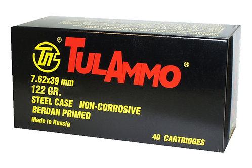 TULAMMO 7.62X39 122GR FMJ STL 40RD