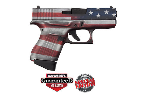 Glock Model: 	43 Cerakote Battleworn USA Flag