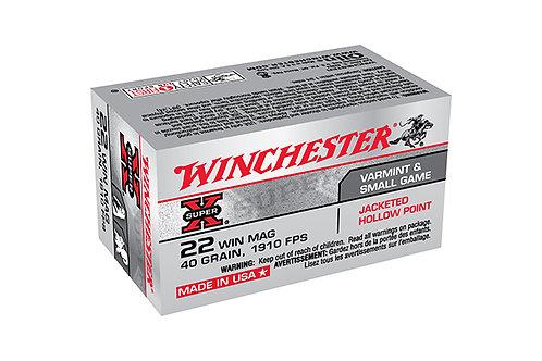 WINCHESTER CARTRIDGE 22M SUPER X 40GR JHP