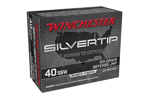WINCHESTER 40SW 155GR SILVERTIP HP