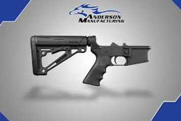 AM-15 COMPLETE LOWER, BLACK HOGUE – OPEN