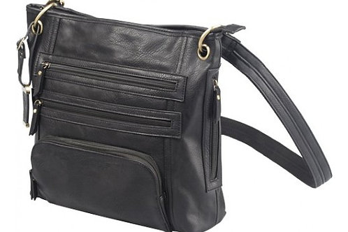 BULLDOG CONCEALED CARRY PURSE LARGE CROSS BODY BLACK