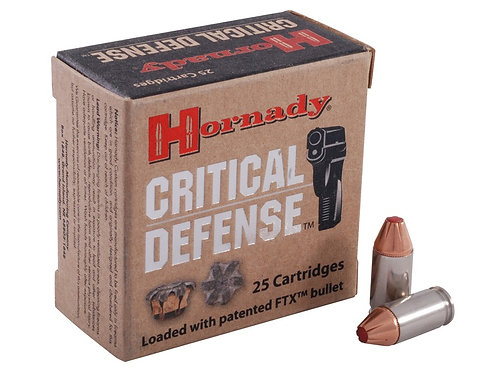 HORNADY CRITICAL DEFENSE 9mm - 25 Rounds
