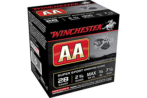 WINCHESTER AA SPORTING CLAYS 28G MAXDR .75-7.5