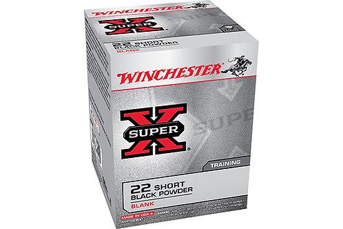 WINCHESTER CARTRIDGE 22 SHORT SUPER X BLACKPOWDER BLANK