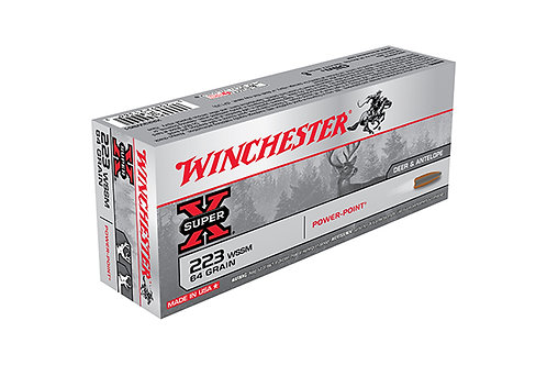 WINCHESTER CARTRIDGE 223 WSSM 64GR POWER POINT